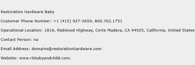 Restoration Hardware Baby Phone Number Customer Service