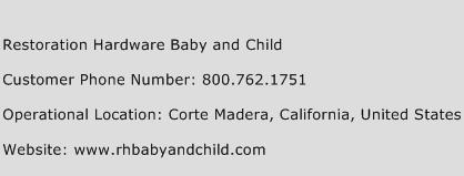 Restoration Hardware Baby and Child Phone Number Customer Service