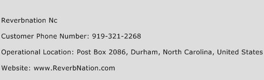 Reverbnation Nc Phone Number Customer Service