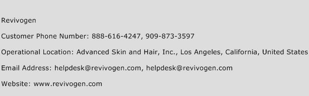 Revivogen Phone Number Customer Service