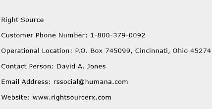 Right Source Phone Number Customer Service