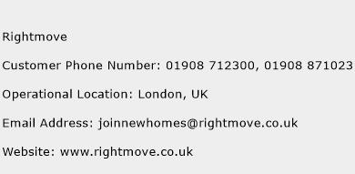 Rightmove Phone Number Customer Service