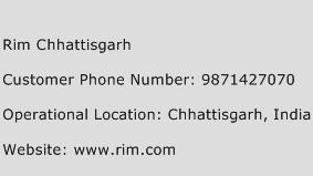 Rim Chhattisgarh Phone Number Customer Service