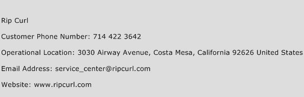 Rip Curl Phone Number Customer Service
