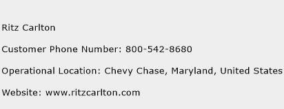 Ritz Carlton Phone Number Customer Service