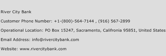 River City Bank Phone Number Customer Service