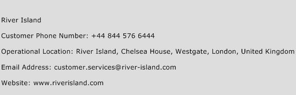 River Island Phone Number Customer Service