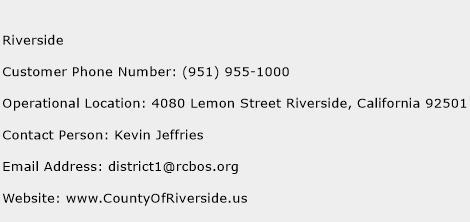 Riverside Phone Number Customer Service