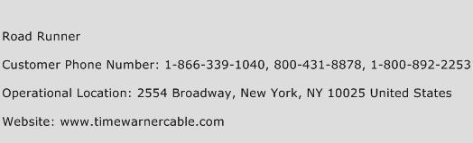 Road Runner Phone Number Customer Service