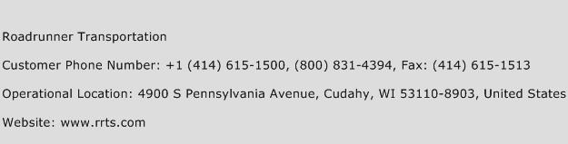 Roadrunner Transportation Phone Number Customer Service