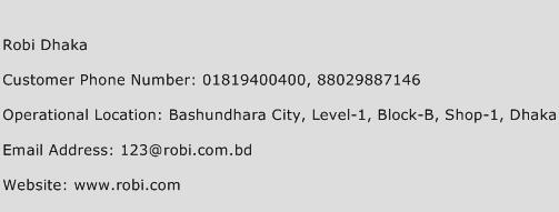 Robi Dhaka Phone Number Customer Service