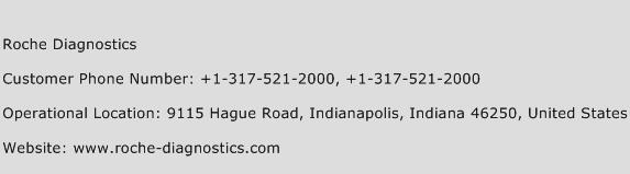 Roche Diagnostics Phone Number Customer Service