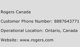 Rogers Canada Phone Number Customer Service