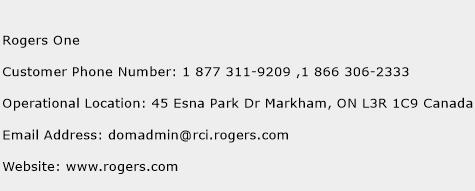 Rogers One Phone Number Customer Service