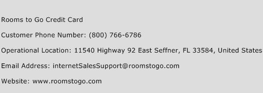 Rooms to Go Credit Card Customer Service Phone Number | Contact ...