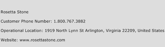 Rosetta Stone Phone Number Customer Service