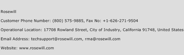 Rosewill Phone Number Customer Service