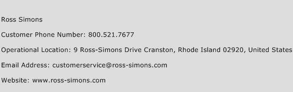 Ross Simons Phone Number Customer Service