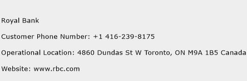 Royal Bank Phone Number Customer Service