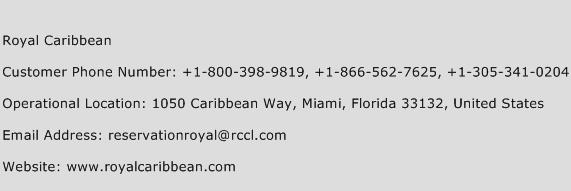 Royal Caribbean Phone Number Customer Service