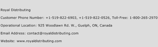 Royal Distributing Phone Number Customer Service