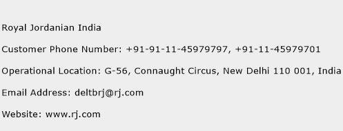 Royal Jordanian India Phone Number Customer Service