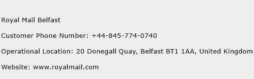 Royal Mail Belfast Phone Number Customer Service