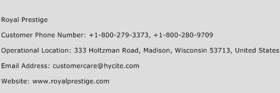 Royal Prestige Phone Number Customer Service