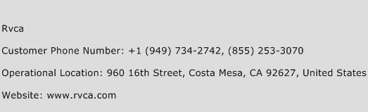 Rvca Phone Number Customer Service