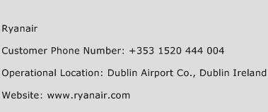Ryanair Phone Number Customer Service