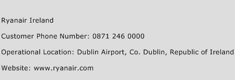 Ryanair Ireland Phone Number Customer Service