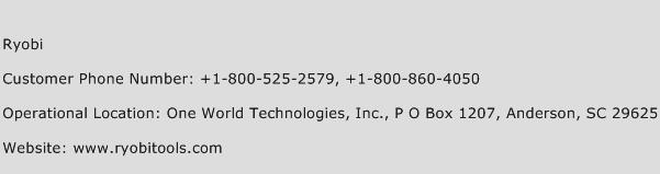 Ryobi Phone Number Customer Service