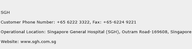 SGH Phone Number Customer Service