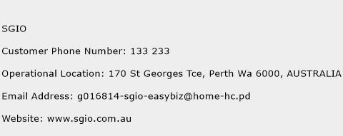 SGIO Phone Number Customer Service