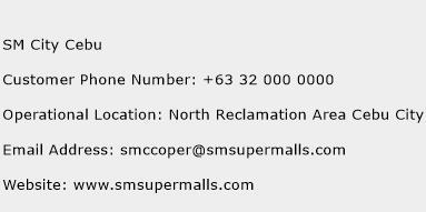 SM City Cebu Phone Number Customer Service