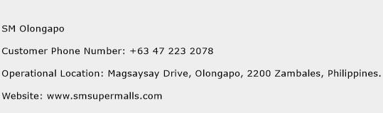 SM Olongapo Phone Number Customer Service