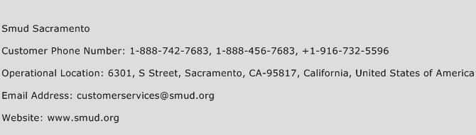 SMUD Sacramento Phone Number Customer Service