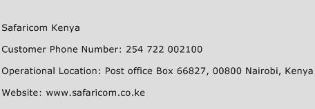 Safaricom Kenya Phone Number Customer Service