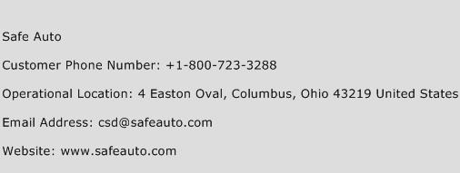 Safe Auto Phone Number >> Safe Auto Number Safe Auto Customer Service Phone Number Safe
