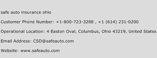 Safe Auto Insurance Ohio Phone Number Customer Service
