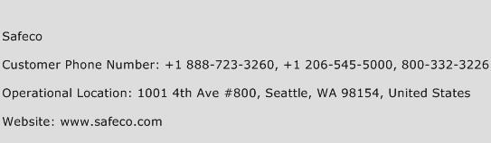 Safeco Phone Number Customer Service