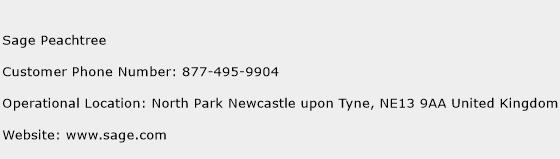 Sage Peachtree Phone Number Customer Service