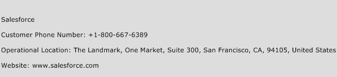 Salesforce Phone Number Customer Service