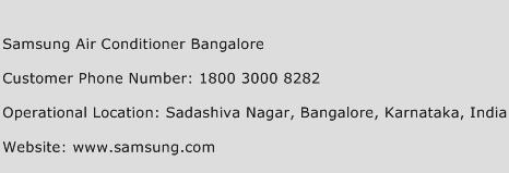 Samsung Air Conditioner Bangalore Phone Number Customer Service