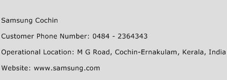 Samsung Cochin Phone Number Customer Service
