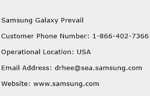 Samsung Galaxy Prevail Phone Number Customer Service