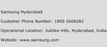 Samsung Hyderabad Phone Number Customer Service