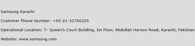 Samsung Karachi Phone Number Customer Service