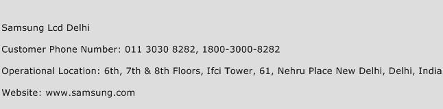 Samsung Lcd Delhi Phone Number Customer Service