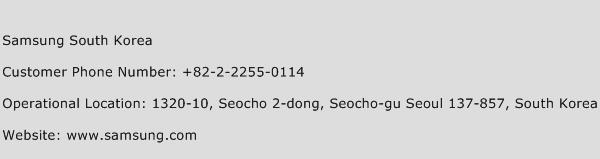 Samsung South Korea Phone Number Customer Service
